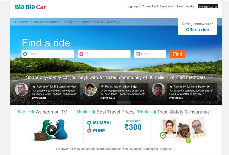 blablacar framework see think do care главная Индия